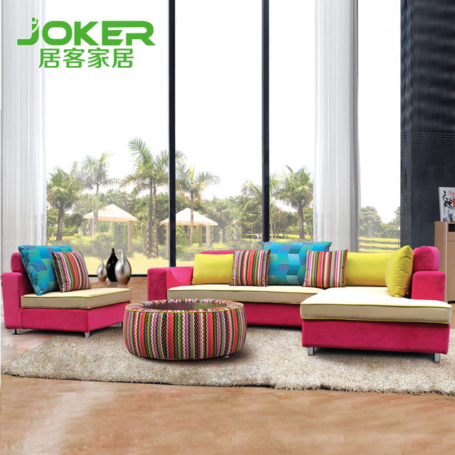 Color Sofa Toko Bed Cianjur Living Off Large Room With Combination Fashion Mix Corner B021 Specials
