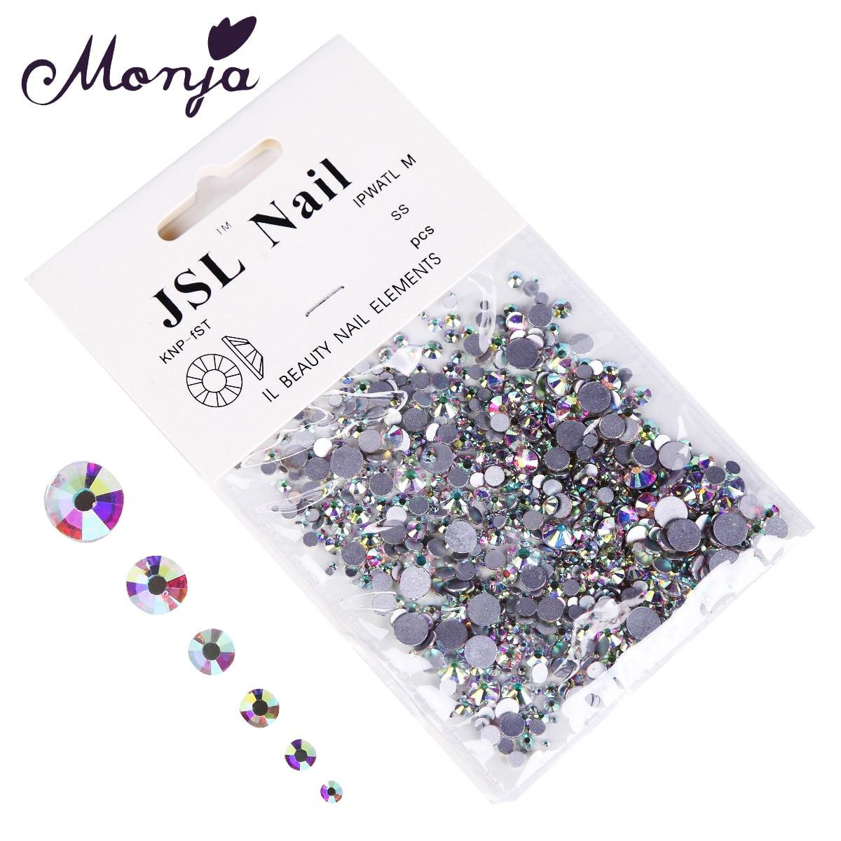 1200 Teile/beutel Multisize Nail art Diamant Edelstein Style Shiny ...