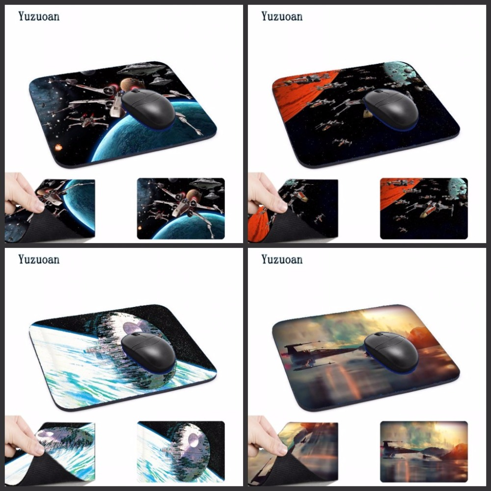 Yuzuoan Top Game Mouse Pad Print Star Wars Style Durable Anti-slip Desk Mouse Mat for Optical Mouse Pad Decorate your desk