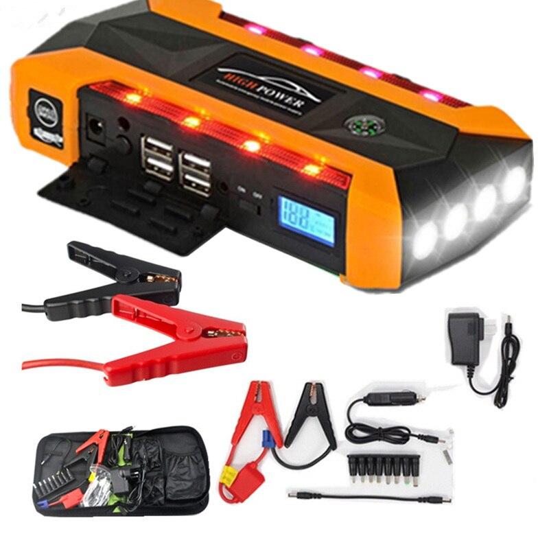 20000 мАч пусковое устройство для автомобиля пусковое устройство ЖК-дисплей транспортные средства джемпер бустер 4USB power Bank Digitals компас SOS свет