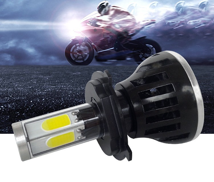 23- H4 hi lo high low led headlight high power 40W motorcycle moto bike headlamp