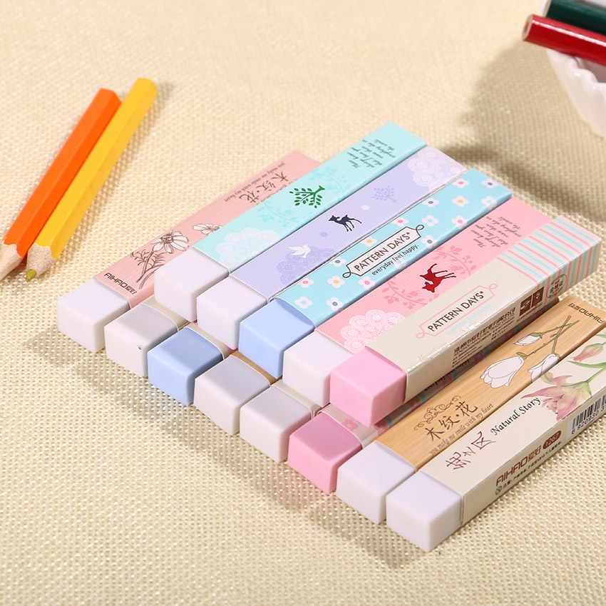 1PC Cute Kawaii Cartoon Flower Rubber Eraser Lovely Colored Eraser Student Gift School Supply