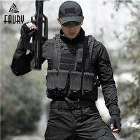 Men's Tactical Vest Hunting Military Equipment Airsoft Military Uniform Combat Vest Colete Tatico Chaleco Army Vest Black