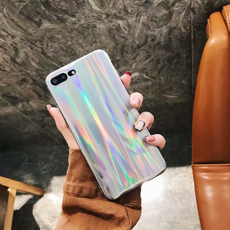 Fashion Shiny Laser Shinning Case for Samsung S9 S8 Plus Case For iPhone X Case For iPhone 6 6s 7 8 Plus Colorful Soft TPU Case