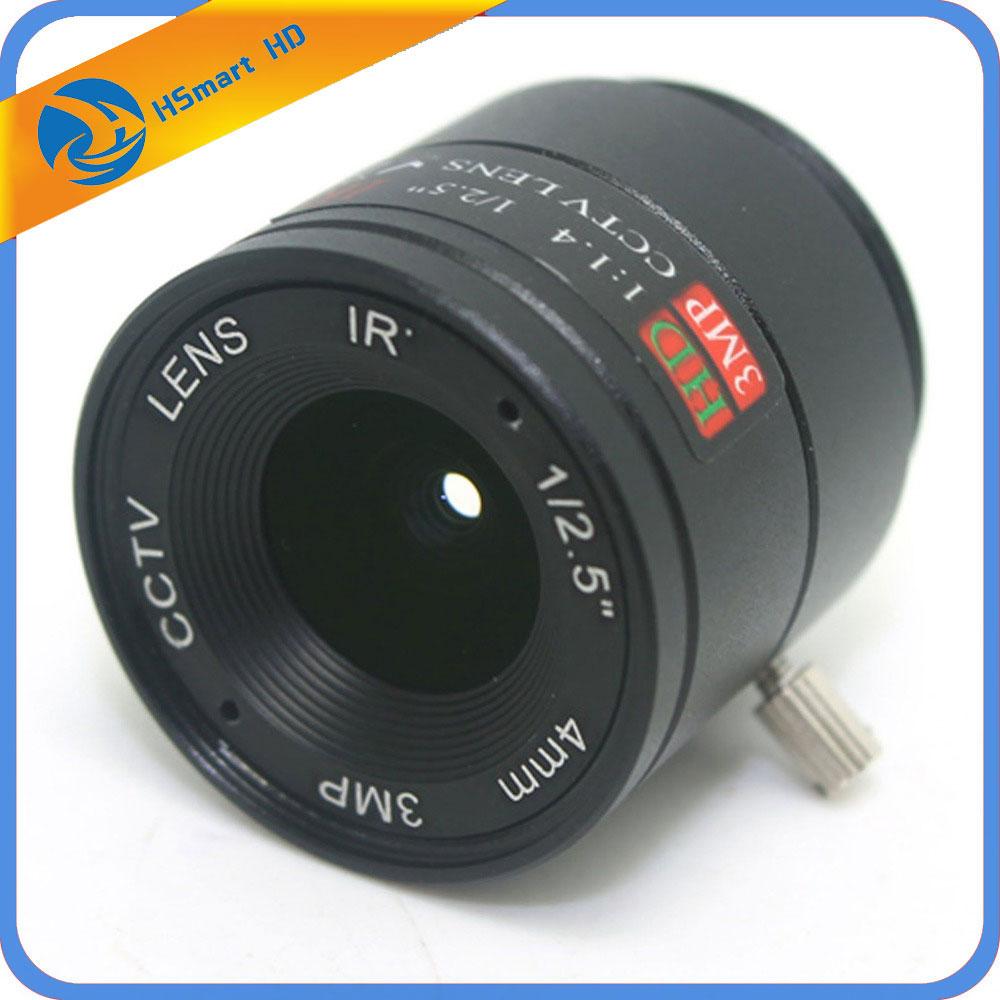 4 MM 3MP Objectif CCTV 1/2. 5 ''F1.4 CS Fixe IR 3.0 Mégapixels CCTV lentille Pour IR 720 P/1080 P AHD TVI CVI SDI WIFI de Sécurité Mini Caméra