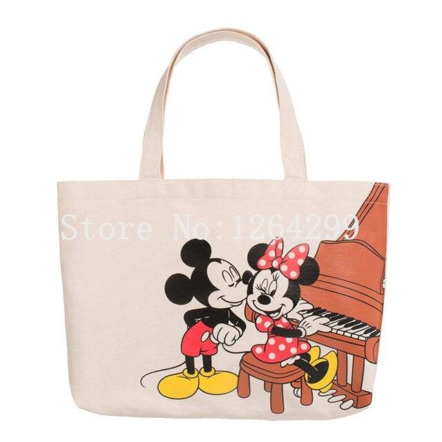 e75a64393b Nouvelle mode Mickey Minnie filles femme toile sacs à main sacs à  bandoulière enfants sac à