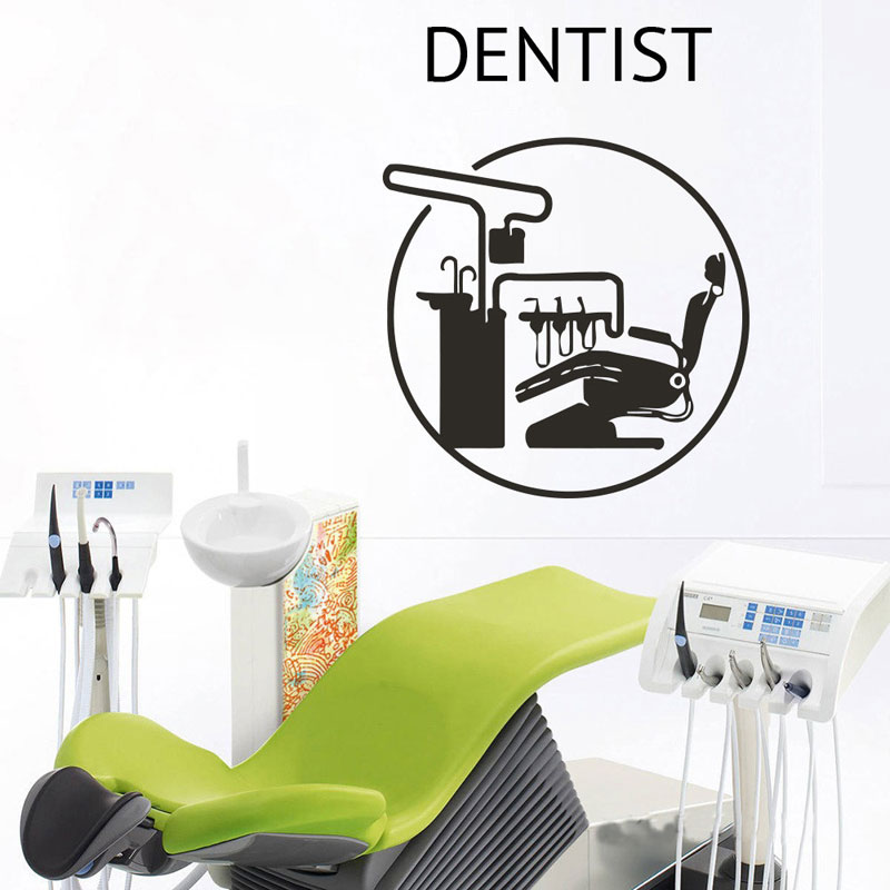 Dental Care Wall Sticker Stomatology Clinic Sign Window Decal Tooth Healthcare Vinyl Art Decorations for Office Dentist Z275