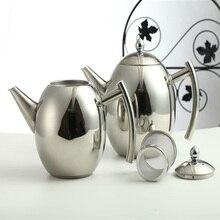 1Л кофеварка, чайник, нержавеющая сталь, молочный кофейник, серебристый, холодный чайник с ситечком, мини, для дома, кухонные инструменты