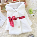 Free shipping Autumn and Winter Baby Girls thick jacket coat,children thick bow ribbon fashion outwear#Z903