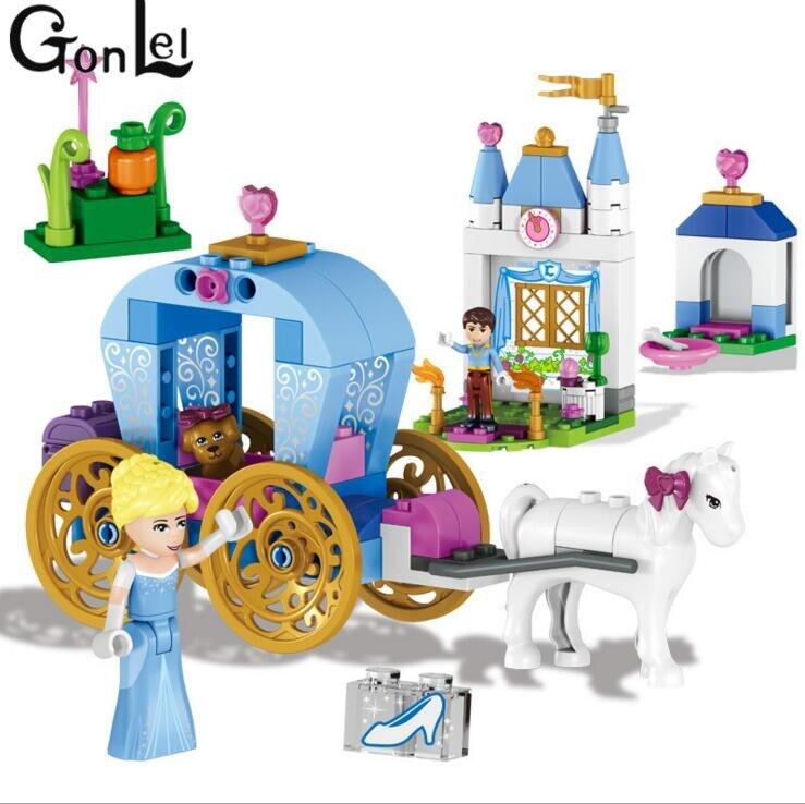 Gonlei 37002 принцессы Анны и Эльзы для девочек Кристоф сани Приключения строительных блоков комплект Анна Кристофф sevn олени игрушки для детей