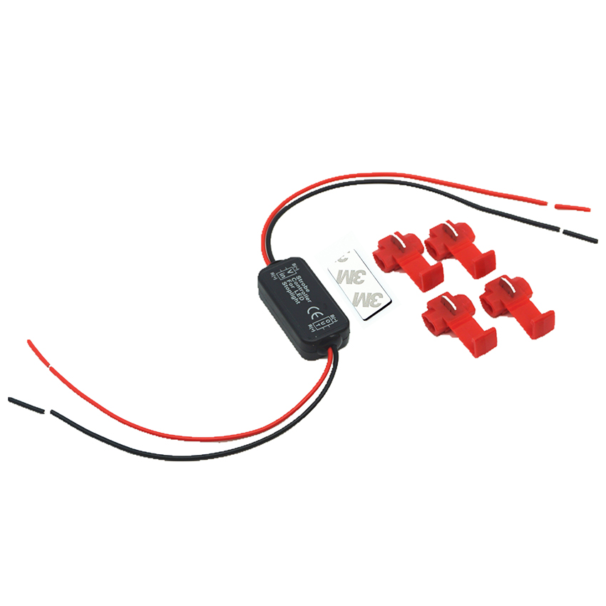 Universal 6-30V Flash Strobe Controller Flasher Module for Car LED Brake Stop Light Lamp+4pcs Wiring clip