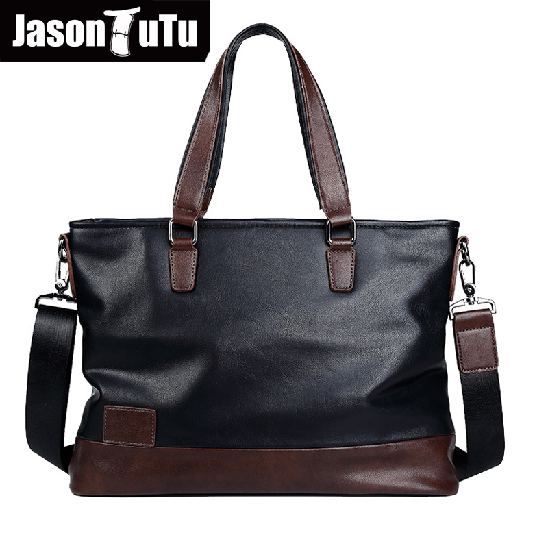 где купить JASON TUTU Business Men purses and handbags Work business Shoulder Laptop bag messenger bag men leather bolsa free shipping B550 по лучшей цене