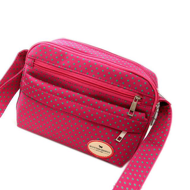 High Quality Canvas Women Bag Solid Handbags Famous Brand Single Floral Shoulder Crossbody Bags Red Zipper Clutch Soft Totes B26