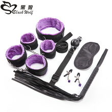 7pcs Sex Toys for Couples Exotic Accessories Adjustable Nylon BDSM Bondage Set Erotic Handcuffs Whip Rope Games