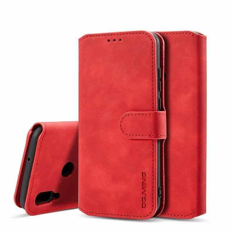 Étui de téléphone pour xiaomi Mi8 Lite Mi9 SE Pocophone F1 luxe rétro portefeuille en cuir Flip couverture magnétique pour Redmi GO 6 6A 6Pro Note6