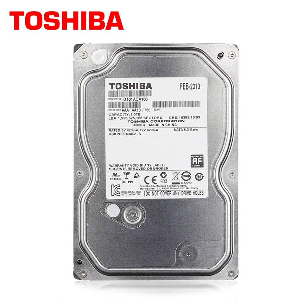 TOSHIBA 1 TB Disque Dur Disque 1000 GB 1 T Interne HD DISQUE DUR 7200 RPM 32 M 3.5