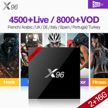 X96W France IPTV Box Android 7.1 S905W 2G/16G WiFi HD Quad Core IPTV récepteur SUBTV arabe France belgique Canada IP TV(China)