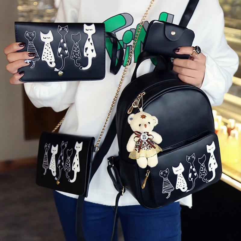 5378f5df41 Stampa Scuola Per Pz Sacchetto Composito Elaborazione Nero Ragazze  Adolescenti set Donne Dell'unità Bagpack Le Bookbags colore grigio Del B Di  Borse ...