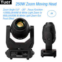 2Pcs/Lot 250W LED Zoom Moving Head Light 3IN1DMX512 Sound Control Party Club Bar Stage Lights DJ Disco Moving Head Lights