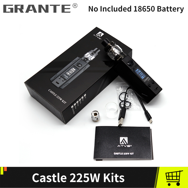 Grante Castle 225W Box Mod Kit With SR11 Atomizer 225W Mods 0.15ohm Dual Core Without 18650 Battery Electronic Cigarettes Kits--1(1)