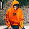 MENGDGOS Cotton Orange Letter Kanye West Purpose Hip Hop Skateboard Hoodies Men Full Streetwear High Street