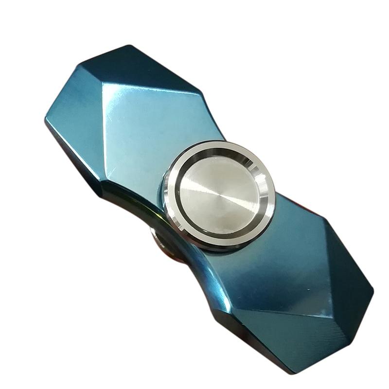 Titanium Alloy Fidget Hand Spinner EDC Glittering Gradient Torqbar Finger Spinner Metal Handspinner Stress R188 Toys SL220 fq777 hexagonal fidget hand spinner aluminum alloy red