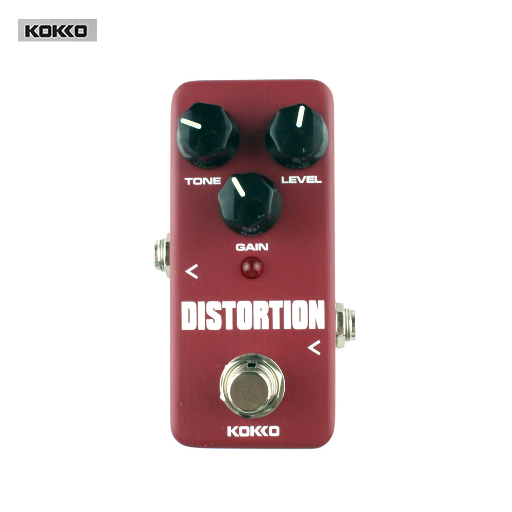 Guitar Parts & Accessories KOKKO FDS2 Mini Distortion Pedal Portable pedal True bypass Guitar effect pedal kokko frb2 mini space pedal portable guitar effect external ac adapter delivering 9v dc regulated guitar parts