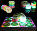 1Pcs Flashing Light-Up Rainbow Circle Maigc Spring Early Development Educational Baby Funny Toys Interactive Game