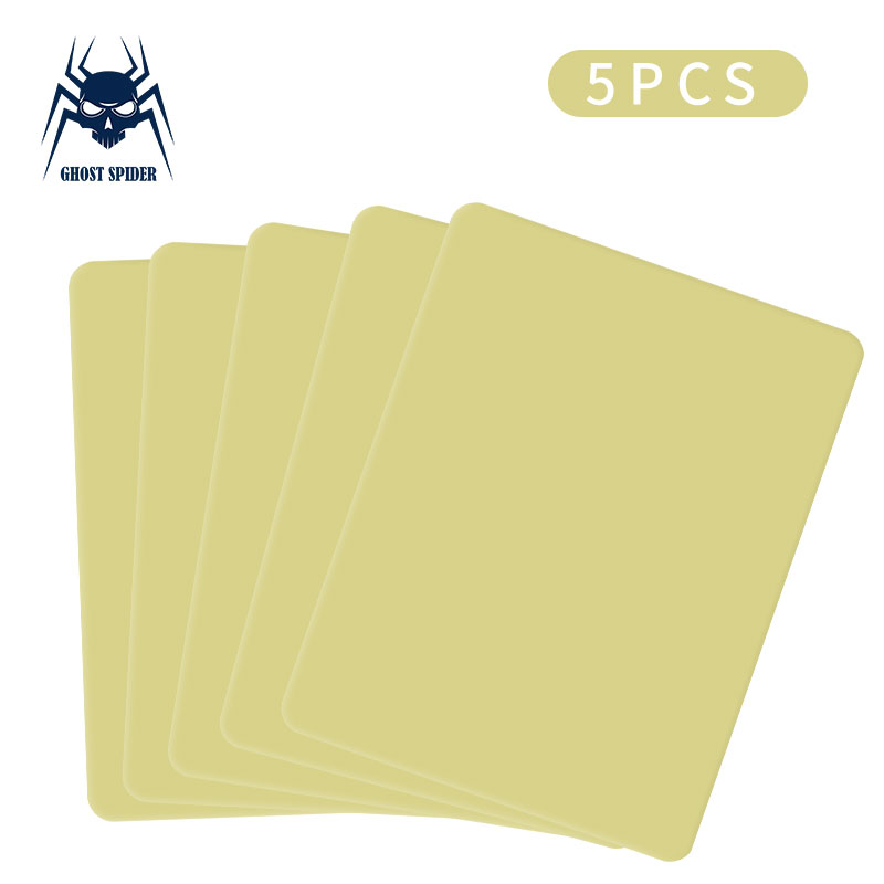 GHOST SPIDER 5pcs Blank Silicone Tattoo Practice Skin Sheet For Needle Machine Supply