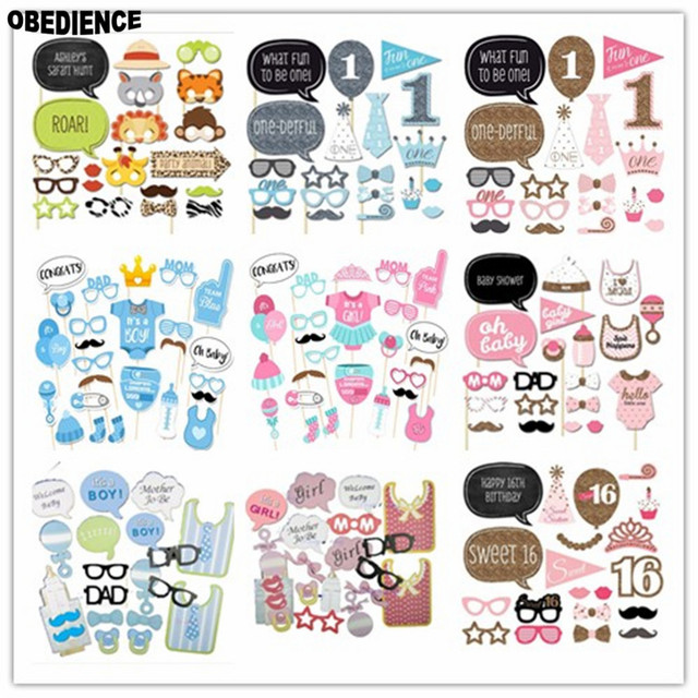 OBEDIENCE Wholesale Baby Shower Favors Gift Photo Booth Props Boy Girl Fun  PhtotoBooth 1st Birthday Party