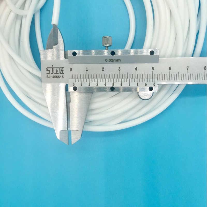 10 Meters/lot 4 Mm X 2 Mm Eco Pelarut Tinta Pompa Tabung Pipa untuk Roland Mutoh Mimaki Plotter Printer Lembut putih Silikon Selang Tubing