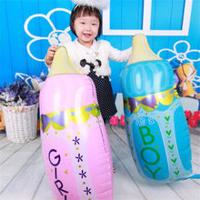 1PC 44*80cm Aluminium Foil baby's bottle Balloons Birthday Party Decoration Home Decor Celebrating the birth of a new life(China)