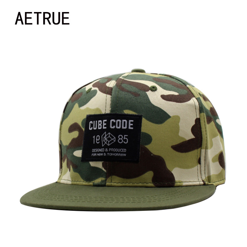 AETRUE Brand Snapback Caps Men Hip Hop Baseball Cap Women Bone Hats For Men Casquette Gorras Casual Camouflage Snap Back Caps