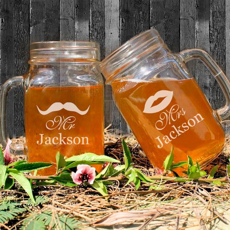wedding decoration custom mason jar bottle personalized cute