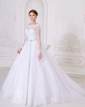 Голубые ленты к свадебному платью