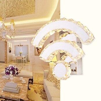 Światła LED Lampy Kryształowe ściany Bursztyn Kinkiety ścienne Kryształ Modern/Contemporary/łóżko/salon/Hotel/Metal 110- 220 V Darmowa Wysyłka Na ścianie U Nas Państwo Lampy
