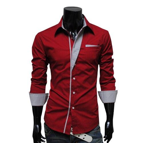 2016 New Spring Mens Shirt Long Sleeve Slim Fit Clothing Man Dress ...