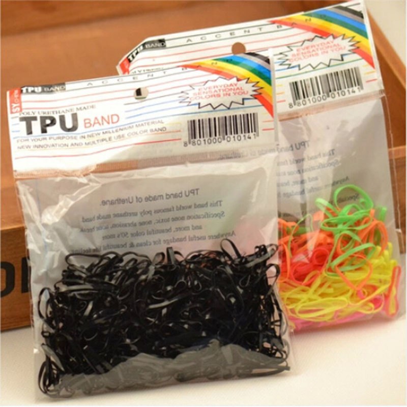 300 шт. эластичной резиновой лентой Hairband Веревка хвост держатель волосы группы Галст ...