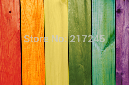 colorful wood fence Art Fabric photography backdrop wood custom photo prop backgrounds D 4904
