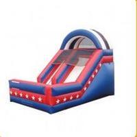 Популярный гигантский ПВХ коммерческий надувной прыжки сухое скольжение игрушка для продажи