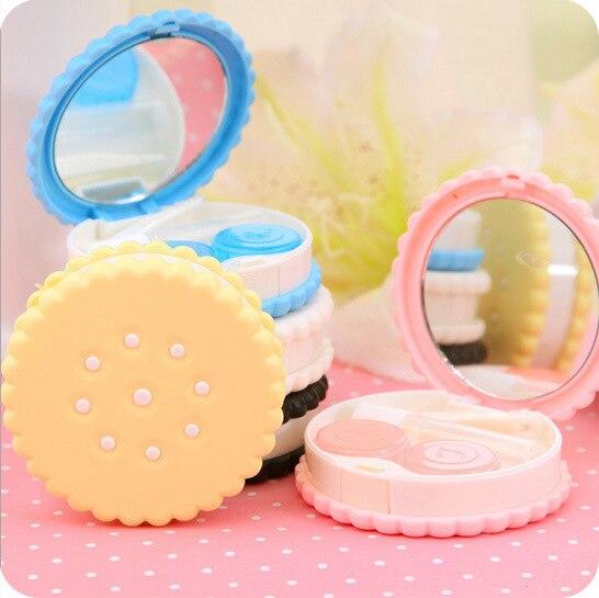 1 шт. оптовая продажа мультфильм печенье конфеты цвет Box дизайн контактных линз чехол держатель контейнера чехол для линзы 1051