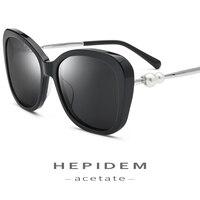 c4f48dcce Acetate Polarized Sunglasses Women Brand Designer Cat Eye Luxury Sexy  Cateye Pearl Oversize Mirror Korean Sun. Acetato de Óculos Polarizados  Mulheres Marca ...