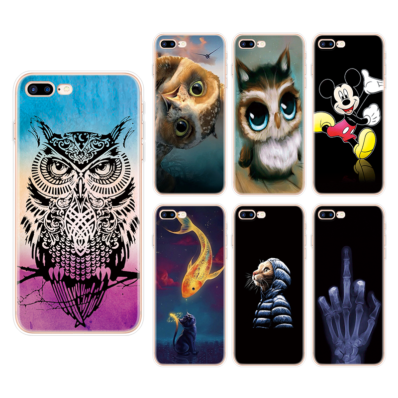 For IPhone X XS Max XR 5 SE 6 S 8 7 Plus Owl TPU Silicone Cover For LG K10 2017 K11 Plus Q6 Q7 V20 V30 X Power 2 Fundas Case