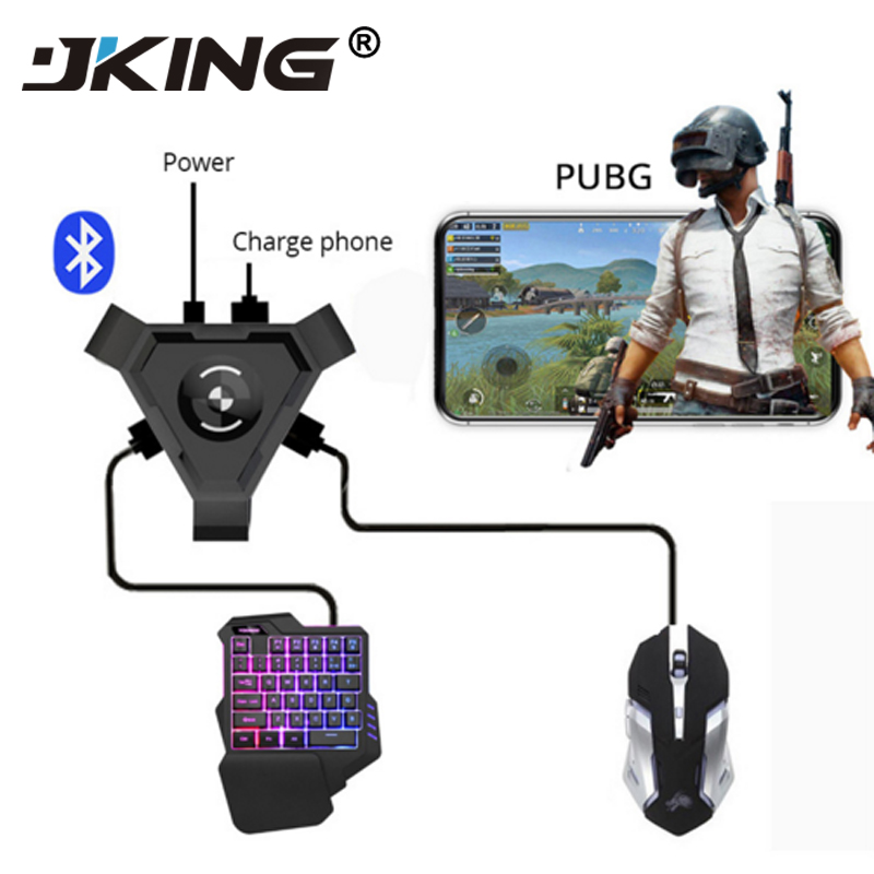 JKING PUBG Mobile Gamepad Controller Gaming Keyboard Mouse Converter For Android Phone To PC Bluetooth Adapter Plug And Play