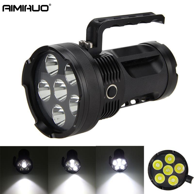 AIMIHUO LED Lanterna Lamp CREE XM-L T6 LED Flashlight Torch Portable Hand Lamps +3x Rechargeable 26650 Battery  + AC Charger 3800 lumens cree xm l t6 5 modes led tactical flashlight torch waterproof lamp torch hunting flash light lantern for camping z93
