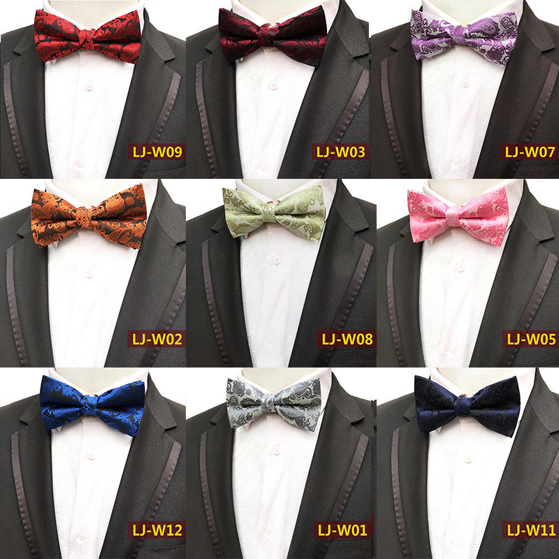 2018 Fashion Bow Tie for Man 14 Colors Paisley Cashew Pattern Self Ties British Style Wedding Party Shirts Bowtie