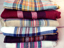 Women Plaid Scarf font b Tartan b font Shawl Wrap Cashmere Feel Oversized Square Scarves Blanket