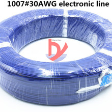 10 m / batch UL 1007 30AWG 10 color wire and cable copper tinned copper PCB line RoHS UL certified insulated LED cable 10m lot ul 1007 28awg 10 colors electrical wire cable line tinned copper pcb wire rohs ul certification insulated led cable