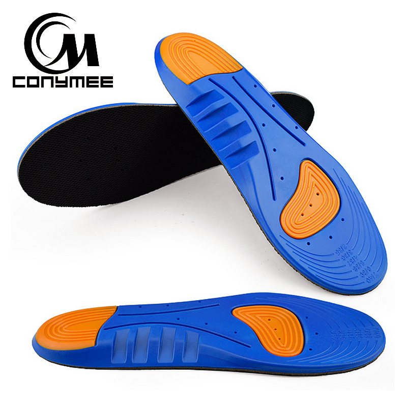 CONYMEE Silicone Shoe Insoles Unisex High Arch Support Sneakers Insole Inserts Men Women Shock Absorption Sport Shoe Pad Sole