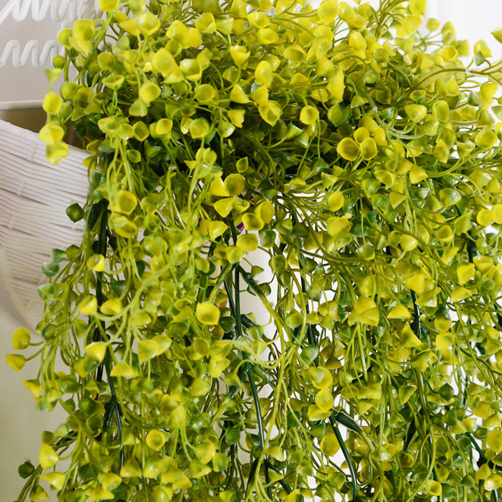 85cm artificial hanging flower plant fake vine willow rattan flowers 1 x 85cm artificial hanging flower plant fake vine willow rattan flowers artificial hanging plant for home garden wall decoration yellow mightylinksfo